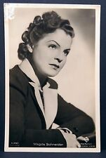 Magda Schneider AK Photo Autograph Card-Photo Postcard (Lot # f3491