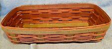 Longaberger Harvest Weave Bread Basket 1995 Beautiful!