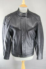 CLASSIC POLO BLACK LEATHER BIKER JACKET 36 INCH/SMALL