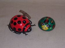 Boy or Girl Antique METAL WIND UP Toy Ladybug Bettle Turtle Pat No JAPAN wheel