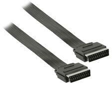 Scart Kabel als Flachkabel / Länge: 3 Meter / Mit 21 Pin voll belegt