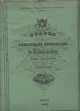 G155-REGNO D'ITALIA 1863 QUADRI E FUNZIONARI GIUDIZIARI