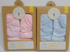 Burt's Bees Baby~ Bibs (2 Per Box) 100% Organic Cotton (Pink Or Blue )