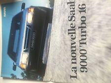 RARE Catalogue brochure  SAAB 9000 16 PAGES Année 1984