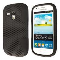 Samsung Galaxy S3 mini i8190 custodia protettiva morbida nero case cover