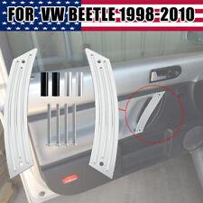 Pair Interior Door Repair Pull Handle Panel for VW Beetle 1998-2010 Metal NEW CB