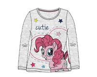 My Little Pony Langarmshirt Mädchen Pullover Gr. 98,104,110,116,128 Grau Neu