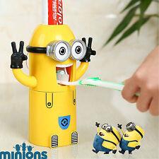 Minion Kids dentifricio dispenser & Spazzolino da denti titolare Bambini Ventosa Set