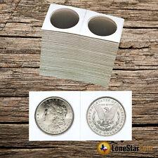 25 2x2 SILVER DOLLAR Mylar Cardboard Coin Holder Flips