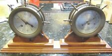 Antique Vintage Schatz Ships Bell Clock and Holosteric Compensated Barometer Set