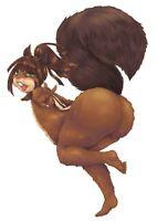 Furry Squirrel #86 Photo Print - Furry Original Game Art Figure Statue Figurine