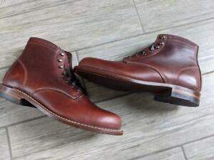 uworn new WOLVERINE boots 1000 mile 9.5 D brown rust W05299