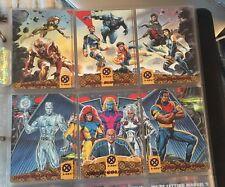 1994 Fleer Ultra X-Men BLUE & GOLD TEAM Red Foil Set of 6 Cards Wal-Mart, Marvel