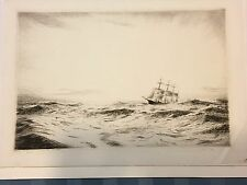JOSEPH GRAY Etching British Realist Pencil Sign and numbed Etching Bay of Biscay