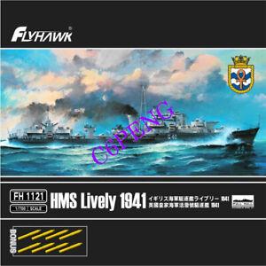 Flyhawk FH1121 HMS Lively 1941 1/700 bonus gun barrel 2019 NEW