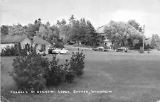 E88/ Saynor Wisconsin Real Photo RPPC Postcard 1953 Franke's St Germain Lodge