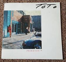 TOTO - FAHRENHEIT vinyl lp record CBS 57091 - 1986 original