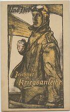 Wounded Pilot Asking 'And You ?' German WW1 Propaganda Postcard (710)