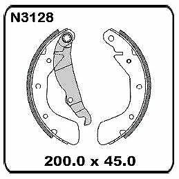 Holden Astra TR CITY 1.6L 9/1996 onwards REAR Drum Brake Shoe SET N3128