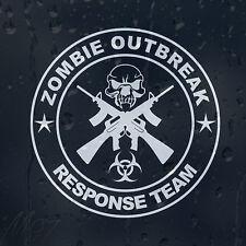 Zombie Skull Outbreak Response Team Gun Machine Car Decal Vinyl Sticker