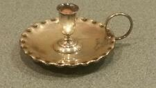 ANTIQUE HORACE WOODWARD ENGLISH STERLING SILVER MINIATURE CHAMBERSTICK EF & HT