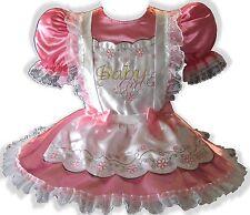 """Natasha"" CUSTOM FIT Satin Adult BABY GIRL Sissy Dress & Pinafore LEANNE"