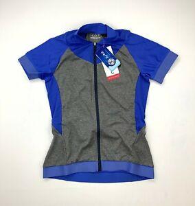 Louis Garneau Ice Fit 2 Women's Cycling Jersey Blue Size Small New