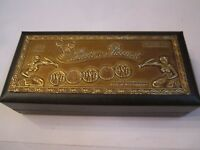 "VINTAGE LUCIEN PICCARD WATCH BOX - EMPTY BOX - 8 1/2"" X 4"" X 2"""