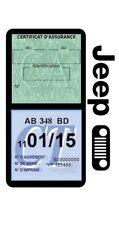 Porte vignette assurance JEEP CALANDRE double étui voiture Stickers auto rétro