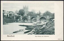 Postcard - Herefordshire - Hereford, Wye Bridge and Cathedral.