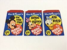 Vintage 1952 Walt Disney MAGIC SLATE Fun LOT game 1 2 3 w/ Pens Disneyana Puzzle