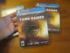 Shadow of The Tomb Raider Croft Steelbook Edition Ps4 Art Cards Season Pass Cd +
