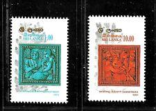 HICK GIRL- BEAUTIFUL MINT SRI LANKA STAMPS   SC#1014-15   1991 ISSUES      E1042
