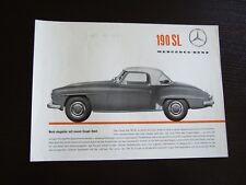 MERCEDES PROSPEKT · 190SL  07/1959