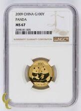 Pièces d'or pour panda chinois