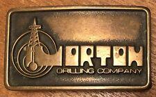 VTG Rare 1978 Handmade Ana Cortes Brass Works Morton Drilling Co Belt Buckle~Oil