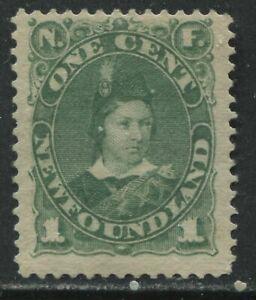 Newfoundland 1897 1 cent green mint o.g. hinged