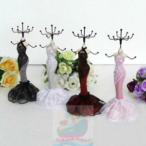 Princess Dress Mannequin Jewelry Earring Necklace Display Holder Stand(tall22cm)