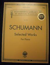 Schumann Selected Works For Piano-Schirmer Vol. 1996 Nos-4Qsmc
