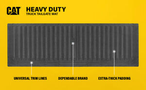 CAT Heavy Duty Waterproof Rubber Tailgate Mat / Pad / Protector for Trucks