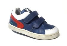 New $80 BUNNIES JR Shoes Toddler Boys LEATHER European Blue Size 8 USA/24 EURO