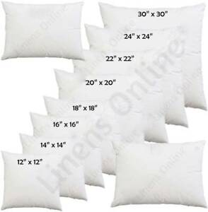 """Cushion Pads Inners Fillers Inserts 12"""" 14""""16""""18""""20"""" 22"""" 24"""" 26"""" 28"""" All Sizes"""