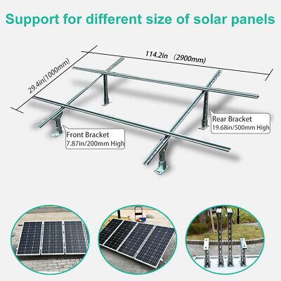 Solar Panel PV Aluminium Mounting Kit Portrait Triangle for 1 to 24 Modules