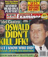 National Examiner Magazine 2/3/2014 John F. Kennedy Frank Sinatra Betty White