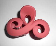 Pince à cheveux 9 cm vague double boucle touché satiné couleur rose foncé P0045B