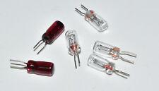 Märklin 610040 & 600070 Ersatz- Glühlampen Steckbirne Set rot / weiß NEU
