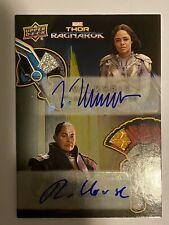 Thor Ragnarok Dual Autograph Costume Card ADA2 Tessa Thompson & Rachel House