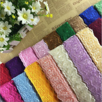 10 yards Delicate Embroidered flower tulle lace trim Sewing Handicrafts DIY  A60