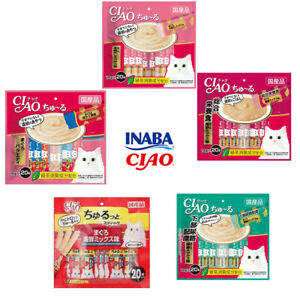 INABA-CIAO Cat Food & Treat 14g*20pcs Seafood Chicken made in Japan