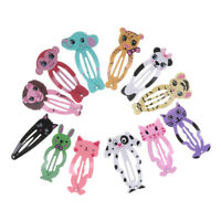 6x Fashion Girl animal coiffure cheveux barrettes clips Snap clip BB